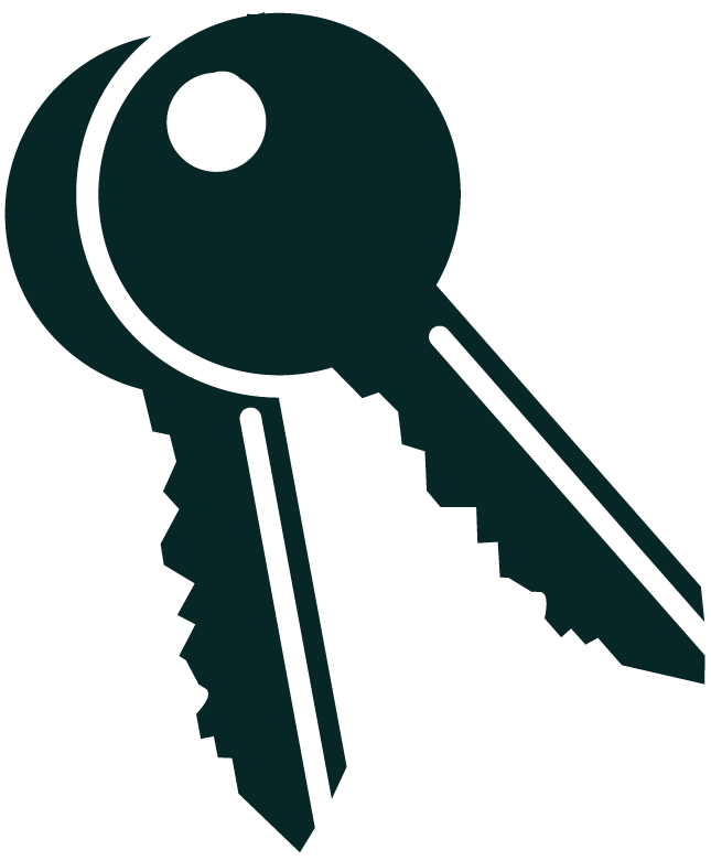 Key protected front