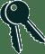Key protected front door