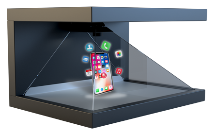 In-store marketing in a retail setting using a 3D holographic display