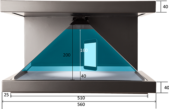 Tech specifications for 3D hologram