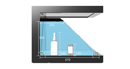 Technical Specifications Dreamoc XL3 3D Hologram Pyramid