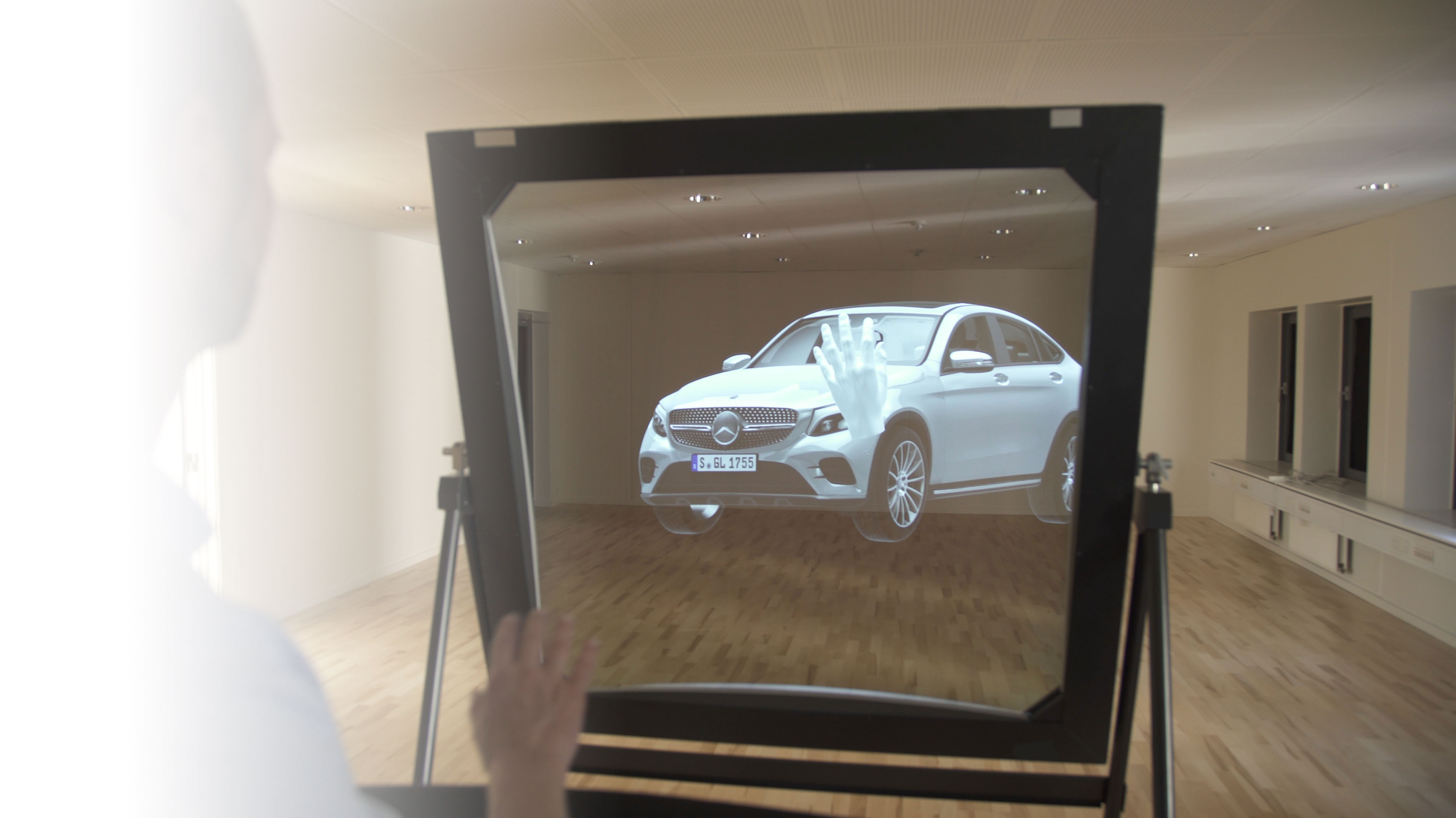 Mercedes Deepframe - the largest mixed reality display