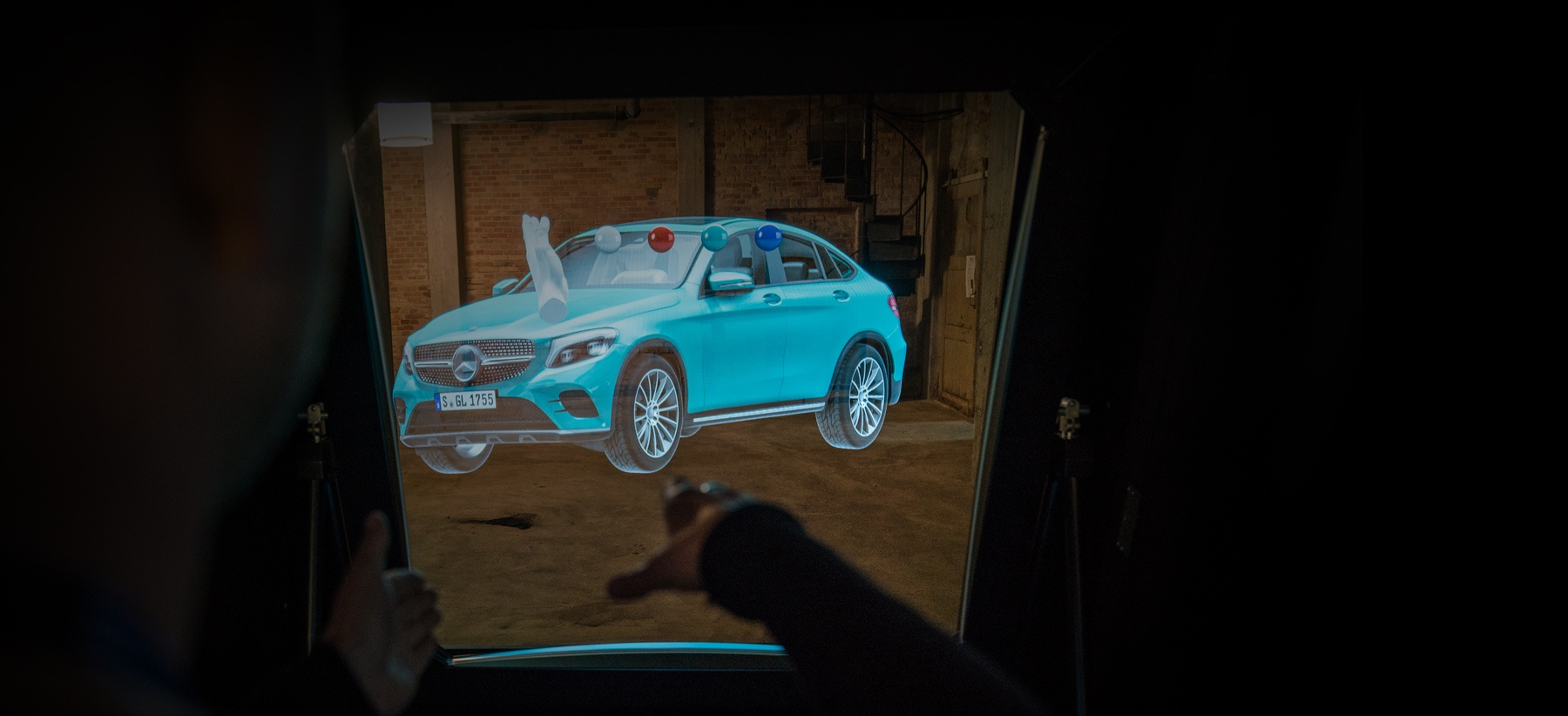 using deepframe mixed reality displays to visualize real size 3d hologram cars in showrooms