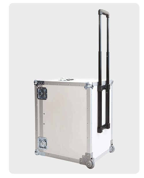 Flightcase for holographic displays